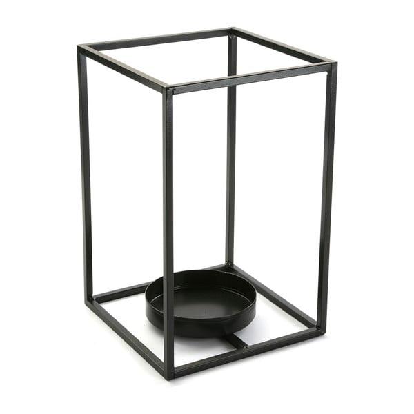 Czarny świecznik VERSA Cube, wys. 29,5 cm