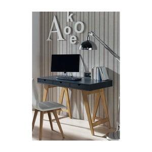 Šedý konzolový stolek z borovicového dřeva SOB Gaudino