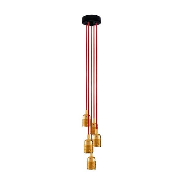 Pět závěsných kabelů Uno Group, zlatá/červená