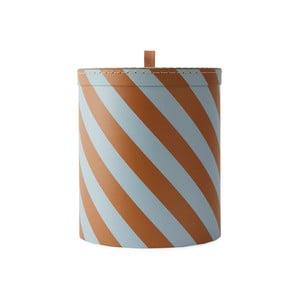 Oranžovo-bílý úložný box OYOY Cute, ⌀ 23 cm