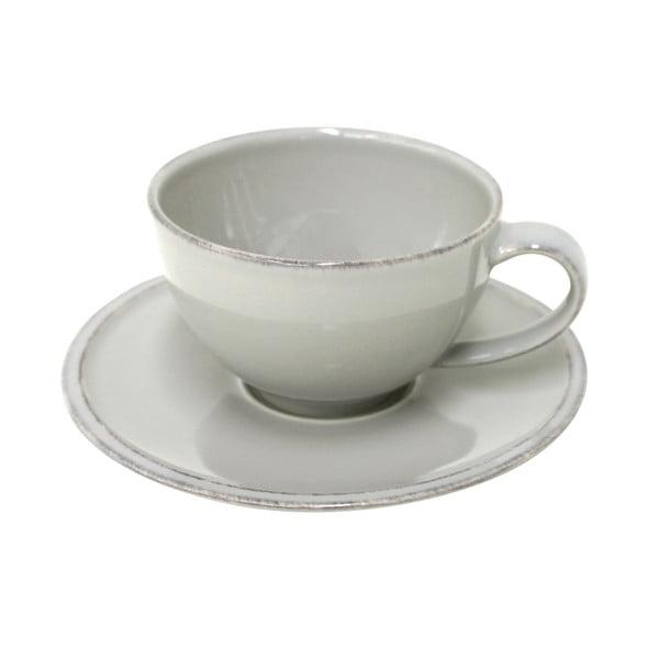 Šedý kameninový šálek na čaj s podšálkem Costa Nova Friso, objem 260ml