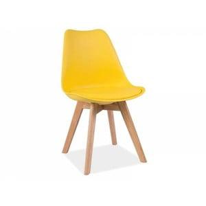 Žlutá židle Signal Kris