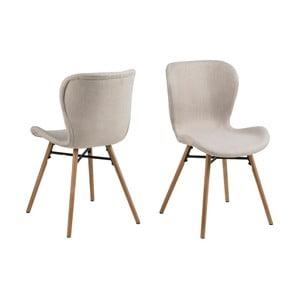Set 2 scaune Actona Batilda, bej