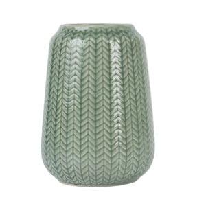 Střední zelená váza Present Time Knitted