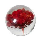 Decoraţiune din sticlă cu flori roşii BePureHome Botanics