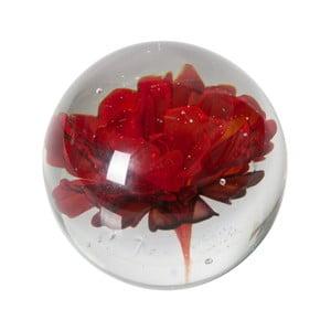 Skleněné těžítko s červenou květinou De Eekhoorn Botanics