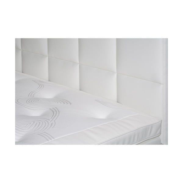 Bílá postel s matrací Gemega Delux, 140x200 cm