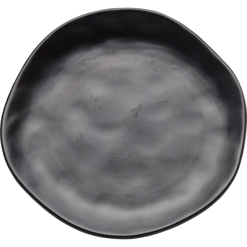 Černý kameninový talíř Kare Design Organic Black, ⌀20cm