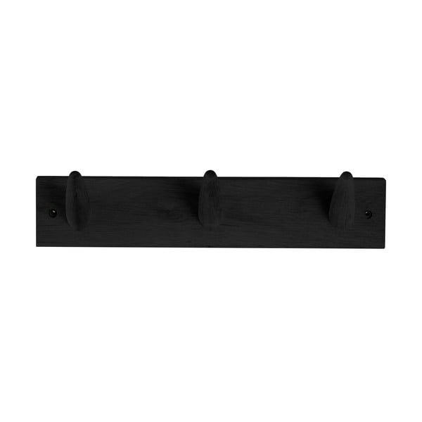 Czarny wieszak z drewna dębowego Canett Uno, szer. 40 cm