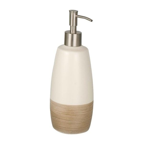 Krémově bílý keramický dávkovač na mýdlo Wenko Nature, 590 ml