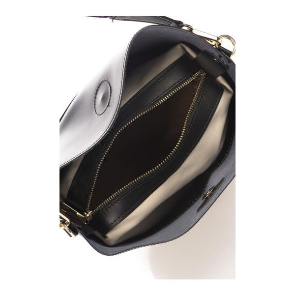 Černá kožená kabelka Markese Ranna