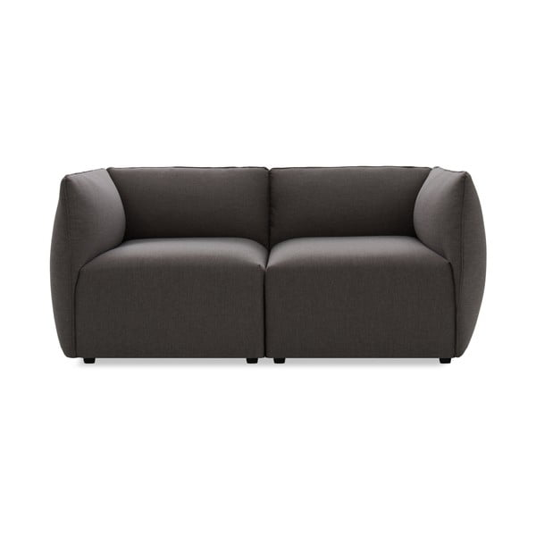 Ciemnoszara sofa dwuosobowa Vivonita Cube