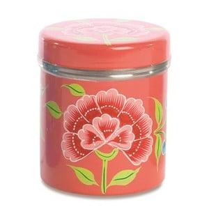 Dóza Franjipani Floral Tin, růžová