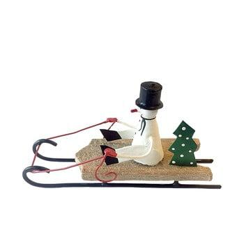 Decorațiune pentru Crăciun G-Bork Snowman on Sled imagine