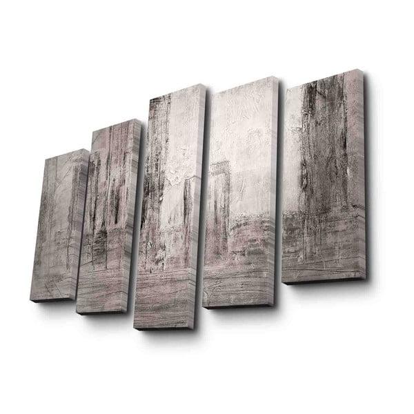 5dílný nástěnný obraz na plátně Grey Mood