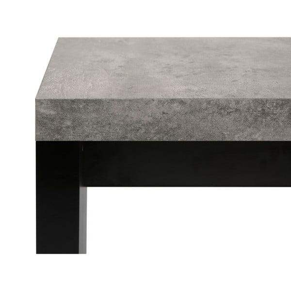 Černo-šedá lavice v betonovém dekoru TemaHome Detroit, 140 x 43 cm
