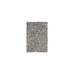 Vlněný koberce Squiggle Blue, 120x170 cm