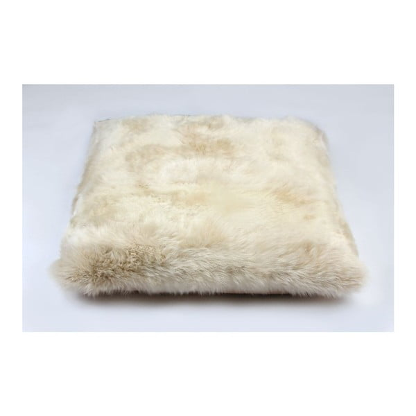 Kožešinový polštář Linen, 80x80 cm