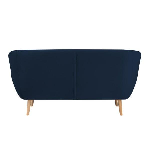 Canapea cu 2 locuri Mazzini Sofas BENITO, albastru închis