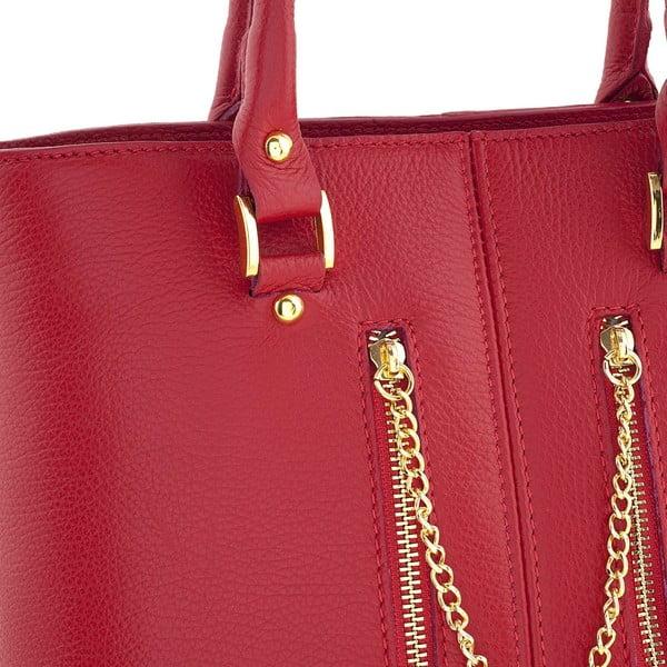 Kožená kabelka Bis Red