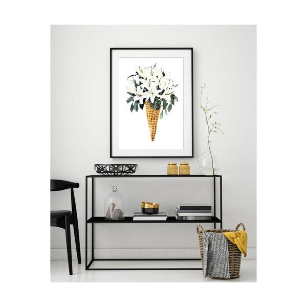 Plakát Leo La Douce White Flower Cone, 42 x 59,4 cm