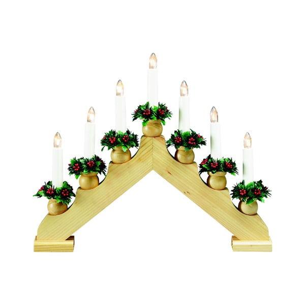 Drewniany świecznik Markslöjd Tomas, wys. 33 cm