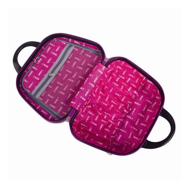 Růžový cestovní kosmetický kufřík se vzory SKPA-T
