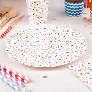 Sada 8 papírových talířů Neviti Carnival Stars