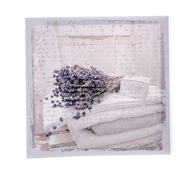 Obraz na plátne s levanduľou Dakls Flowers, 28 x 28 cm