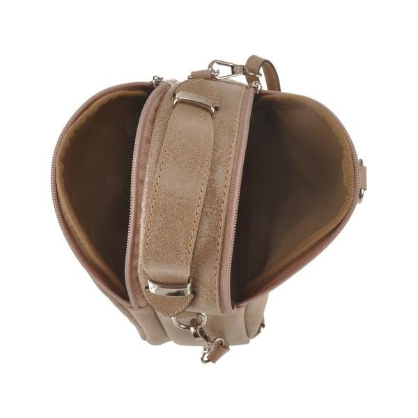 Béžová kožená kabelka Men