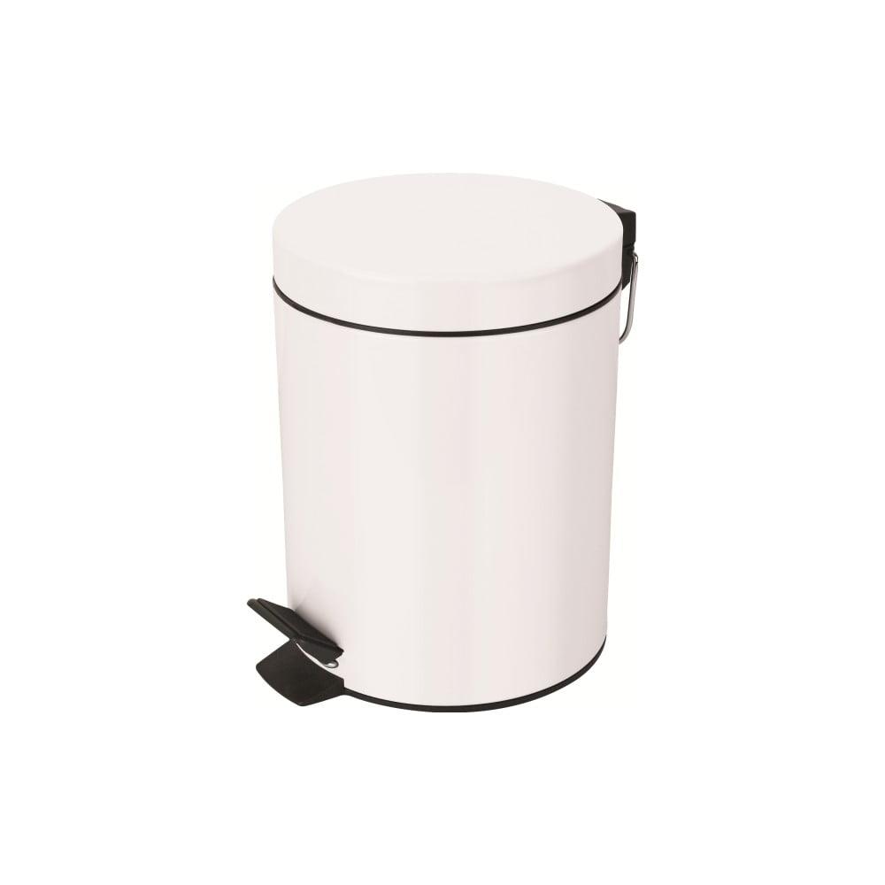 Bílý odpadkový koš Spirella Sydney, 5 l