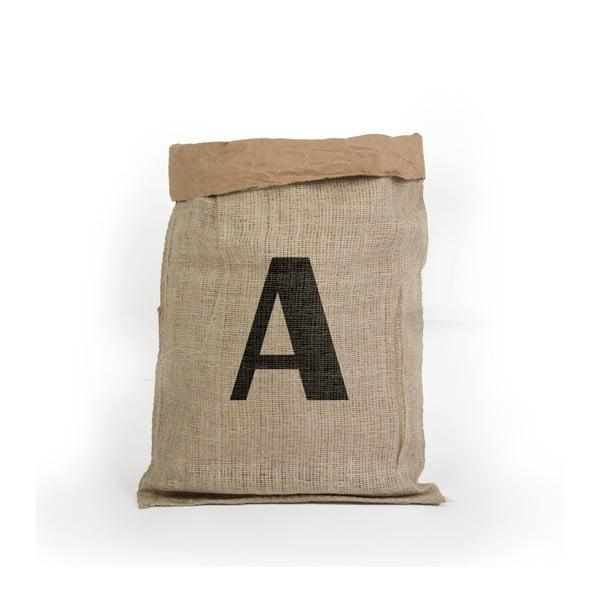 Úložný koš z recyklovaného papíru Surdic Yute Letra A