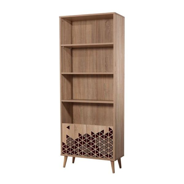Knihovna Booki Red, 198 x 75 cm