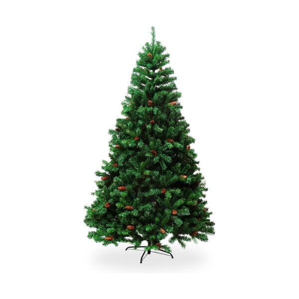 Umelá vianočná borovica so šiškami, výška 1,8 m
