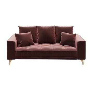 Canapea cu 2 locuri devichy Chloe, roz închis