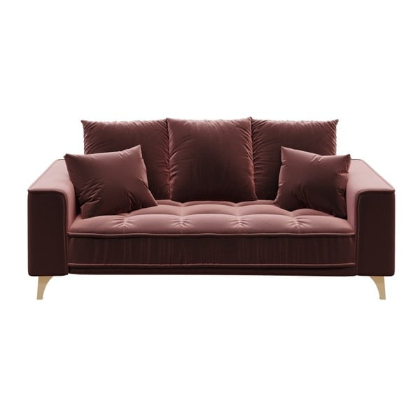 Chloe sötét rózsaszín kétszemélyes kanapé - devichy