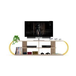 Televizní stolek s detaily v dekoru dubového dřeva Marly