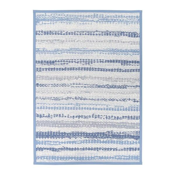 Modrý vzorovaný oboustranný koberec Narma Saara, 70x140cm