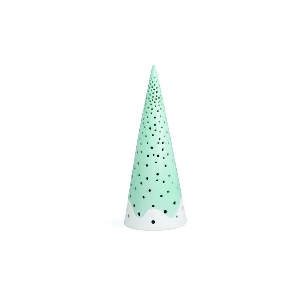 Tyrkysový vánoční svícen z kostního porcelánu Kähler Design Nobili, výška 25,5 cm Kähler Design