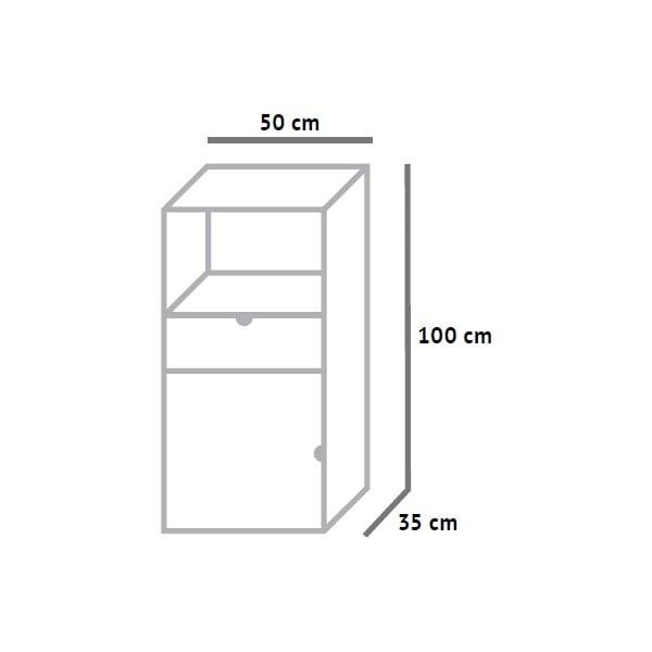 Vyšší skříňka Fam Fara, výška 100 cm