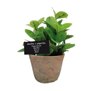 Umělá květina v terakotovém květináči Esschert Design Máta, výška 15,8 cm
