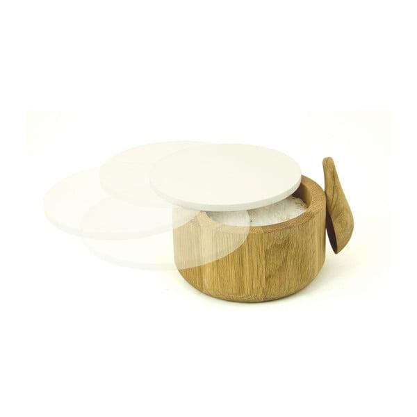 Slánka z dubového dřeva se lžičkou Wireworks Pot&Spoon