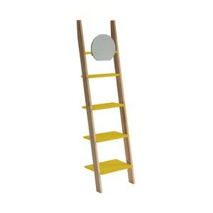 Žlutá opěrná police se zrcadlem Ragaba Ashme Ladder