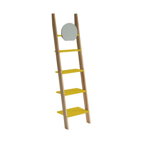 Ashme Ladder sárga létrapolc tükörrel - Ragaba