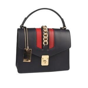 Modrá kožená kabelka Matilde Costa Dabay
