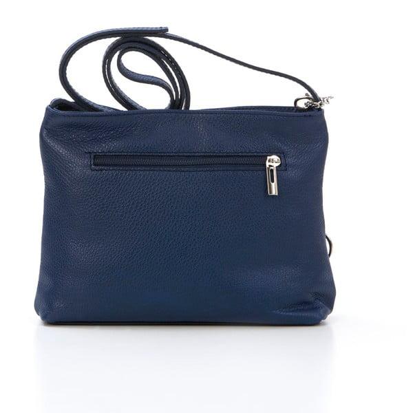 Kožená kabelka Francesco, tmavě modrá