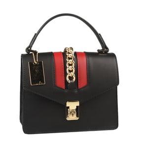Černá kožená kabelka Matilde Costa Dabay
