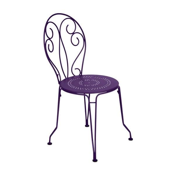 Fialová kovová židle Fermob Montmartre