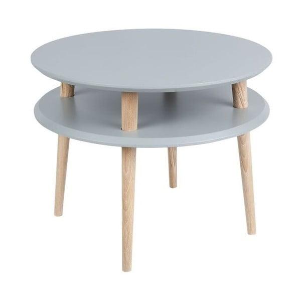 Konferenční stolek UFO 45x57 cm, tmavě šedý