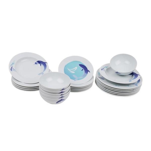 24-częściowy zestaw talerzy porcelanowych Kutahya Garrihno